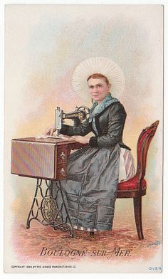 Victorian Trade Card for The Singer Mfg Co Sewing Machines Boulogne Sur 3505 | eBay