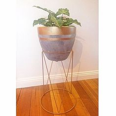 Pot- $12 and stand- $6 | 23 Clever Kmart Hacks That'll Take Your Decor To The Next Level