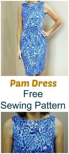 Free sewing pattern Pam Dress