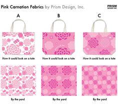 Gamma Phi Beta fabric designs. Sorority. Pink. Pink Carnation