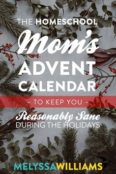 Homeschool Mom's Advent Calendar - A humorous take on the holidays Advent Calendar Fillers, Advent Calendar Activities, Kids Calendar, Calendar Design, Unique Christmas Gifts, Christmas Gift Guide, Christmas Crafts, Monthly Planner Printable, Printable Calendar Template