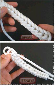 Шнур плетеный,несложно-ручки для сумок и тд.