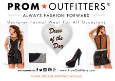 """Dress of the Day! - Prom Outfitters  Style: Party Time 6365 $218.00 http://www.promoutfitters.com/party-time-6365 Shoes: Jacobies Barby 5 $59.99 http://www.promoutfitters.com/jacobies-barby-5-1 Bag: City One 68023 Black $90.00 http://www.promoutfitters.com/city-one-68023-black  TAKE AN ADDITIONAL 35% OFF ALL SALE ITEMS. USE DISCOUNT CODE: """"SALE2014"""" AT CHECKOUT"""