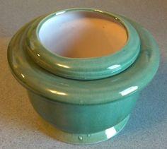 Lovely African Violet Pot Self Watering,  New, Crackled Light Blue / Green