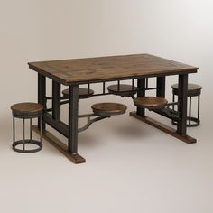 From the floor up remodel on pinterest granite for Really cool dining tables