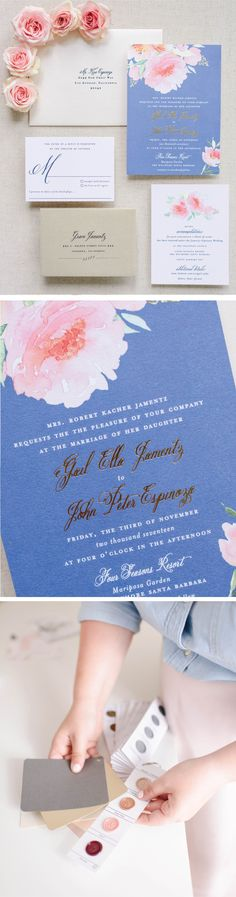 These modern wedding invitations are everything you need to share the   joy of your big  day and get guests excited for your wedding day.   #weddingideas   #weddinginvitations #weddinginvites #romanticweddings   #springwedding Blush Wedding Invitations, Wedding Stationery, Dusty Blue Weddings, Boho Wedding Decorations, Romantic Weddings, Wedding Vendors, Wedding Planning, Palette, Board