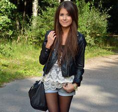 rocker chic...plus, love the hair
