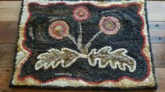 Primitive hooked rug, early look