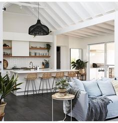 Cosy coastal style is not a contradiction! Creating a coastal style home that is as cool as it is cosy can be easily achieved through layering, introducing texture and expanding your colour palette. We look to this coastal cottage for inspiration. Coastal Living Rooms, Coastal Cottage, Living Room Decor, Living Spaces, Coastal Style, Modern Coastal, Dining Room, Beach Cottage Style, Coastal Farmhouse