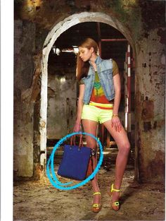 Portugalilaisen Happy Woman -lehden toukokuun numerossa Gabsin Viola-laukku