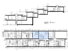Torre Valentina, floor plan & section _ Coderch _ Hidden accesses
