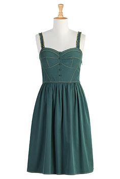 Button-front corset style dress. Customizable. Best. Website. Ever.