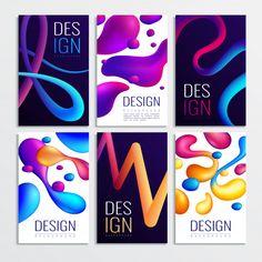 Fluid neon holographic abstract design e... | Premium Vector #Freepik #vector #abstract Geometric Shapes Wallpaper, Geometric Background, Graphic Design Letters, Lettering Design, Wallpaper Decor, Dark Wallpaper, Banner Template, Flyer Template, Design Plano