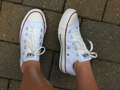 white low top converse. summertime