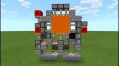 Works for bedrock only! Minecraft Redstone Tutorial, Minecraft Redstone Creations, Art Minecraft, Minecraft Building Guide, Minecraft Structures, Minecraft Plans, Minecraft Decorations, Amazing Minecraft, Cool Minecraft Houses
