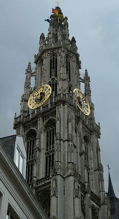 Tower of the cathedral Taken in Antwerpen (Belgie)