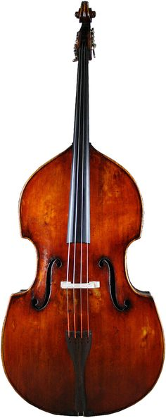 Full view of the German Double Bass circa 1880 #2759 from the double bass specialists Contrabass Shoppe