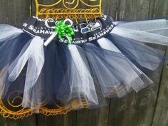 Seattle Seahawks Tutu in Blue & White Sewn with unique by RIandPI