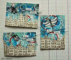 Käsitöitä flamencohame hulmuten: Ommeltu kaupunkinäkymä / Sewed city landscape