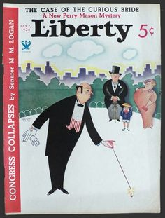057a6fcfbfb246 1934 Liberty Magazine Cover ~ Butler Lights Firecracker