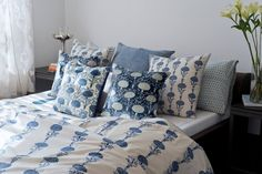 BED OF MARIGOLDS For this season of torrential rain and thunderstorms, we bring you the mystical magic of #marigolds with the tranquility of #Indigo. The Marigold bed story, features #handblock printed natural dye indigo motifs on fine cotton and handspun #khadi, and digital prints on silk velvet. Discover the collection on our #WebBoutique . #CloudIndigo #SustainableLuxury #SleepLounge