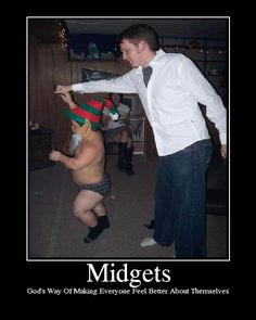 Midget motivational poster