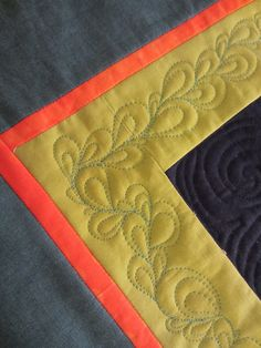 Great border design..who knew? Color Me Quilty