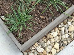 Trex Edging With Mitered Corners And Rock Transition Faux 400 x 300