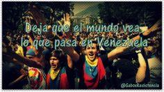 #16A -> Deja Que El Mundo Vea Lo Que Sucede En Venezuela #ResistenciaVzla pic.twitter.com/Sr1gfxhc1M