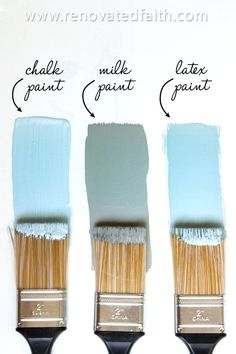 Latex for Furniture Milk Paint vs. Latex for Furniture,Furniture Makeover MIND BLOWN! Milk Paint vs Chalk Paint vs Latex: What's the Best Way to Paint. Chalk Paint Projects, Chalk Paint Furniture, Furniture Projects, Furniture Makeover, Redoing Furniture, Furniture Legs, Garden Furniture, Furniture Design, Annie Sloan Chalk Paint Table