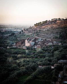 """A village in the Atlas Mountains. Yesterday @owl_emma & family took us to a hideaway in the hills, @kasbah_bab_ourika, and this was one of many stellar views. That said, the best part of this week was watching @owl_emma's 3 children Seth, Saul, and Soma, ages 10, 7, and 5 respectively, play & roam & absorb the world that is Marrakech. Emma & Darren are such an inspiration as parents—they're engaged, adventurous, and live life to the fullest with their """"herd of cats"""". I only hope we'll be so…"""