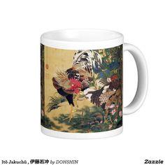 Itō Jakuchū , 伊藤若冲 ベーシックホワイトマグカップ