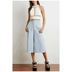 Plain Halter Gauze Patchwork Sleeveless Cropped Tee (28 AUD) ❤ liked on Polyvore featuring tops, t-shirts, sleeveless tee, halter neck tops, sleeveless halter top, crop t shirt and cropped tops