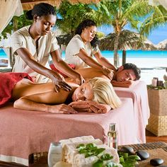 Relax with a massage on your vacation!