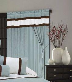 """A Pair of Micro Suede Aqua Blue Window Curtains / Drapes / Panels with Sheer Lining and Valance Set. by FineHome. $39.99. material: micro suede. Easy Machine Washing cold. Micro Suede Window Curtains / panels / drapes set. 120x84""""(WxL). attached valance: 60x18"""". attached sheer lining: 55x84"""". This beautiful windows curtain set include two panels, each panel has size of 60"""" Wide and 84"""" Long. Total 120"""" Wide.  Color may vary from monitor to monitor.  THIS CUSRTAIN SET CO..."""
