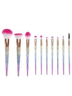 Glitter Rainbow Makeup Brush Set – Get It Girl