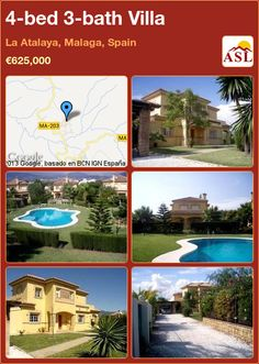 Villa for Sale in Ciudad Quesada, Alicante, Spain with 4 bedrooms, 2 bathrooms - A Spanish Life Malaga Spain, Alicante Spain, Villa With Private Pool, Ensuite Bathrooms, Double Bedroom, Investment Property, Kitchen Styling, Ground Floor, Sliding Doors