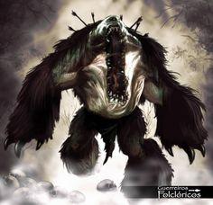 Mapinguari é uma criatura monstruosa com aproximadamente dois metros de altura, que devora qualquer ser vivo em sua frente mas se alimenta principalmente cabeças humanas! Com sua boca enorme emite rugidos assustadores para atordoar suas vítimas, possui uma força descomunal!