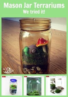 The kids will LOVE doing this! Cute Mason Jar Craft to Bring Spring Into Your House
