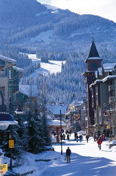 Whistler village near North Vancouver. During the winter olympics, it was a…