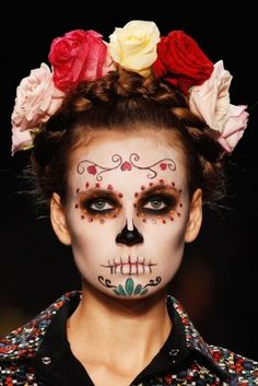 Corpse model (With funeral garland), at Berlin Fashion Week