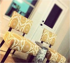 Gorgeous mustard chairs.
