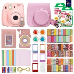 Grad gift. MiniMate Instax Mini 8 Camera with 40 Instax Film and Accessory Bundle. comes in 7 colors. Best price seen.