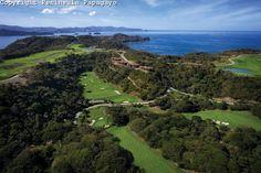 Peninsula Papagayo, Costa Rica, Aerial view of  Arnold Palmer Signature Golf Course and Las Terrazas Condominiums
