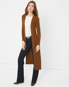 How to Wear a Duster Cardigan | Fall outfit ideas, Winter sweaters ...