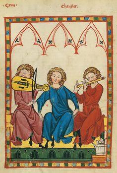 Codex Manesse, fol. 423v, 1305-1340, Zürich.