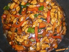 Asian Recipes, Ethnic Recipes, Kung Pao Chicken, Ratatouille, Food And Drink, Vegetarian, Chinese, Yummy Food, Cooking