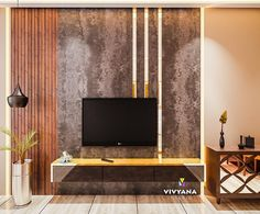 Another close up. Fav part Design by:- visualization :- . Living Room Wall Units, Living Room Tv Unit Designs, Living Rooms, Lcd Wall Design, Ceiling Design, Tv Unit Furniture, Furniture Decor, Tv Unit Decor, Modern Tv Wall Units