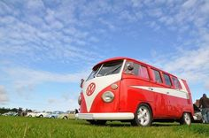 NIce Red Bus Starsky and Hutch Volkswagen Bus ☮ #VWBus ☮ pinned by www.wfpcc.com #clouds