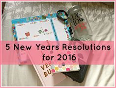 5 New Year's Resolutions for 2016. A Happy Journal Sounds Great to me.